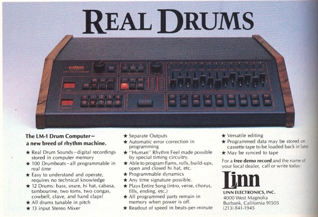 linn lm 1 drum machine circa 1982 music is my sanctuary. Black Bedroom Furniture Sets. Home Design Ideas