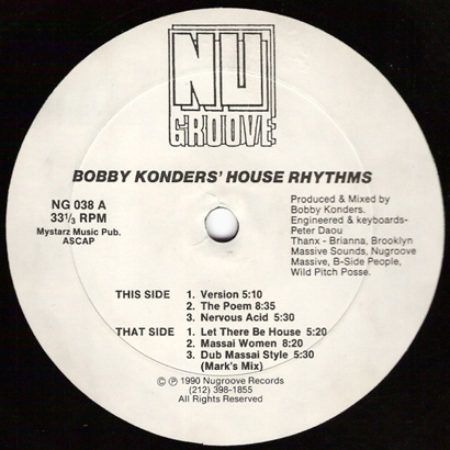 Forgotten treasure bobby konders house rhythms 1990 for 1990 house music