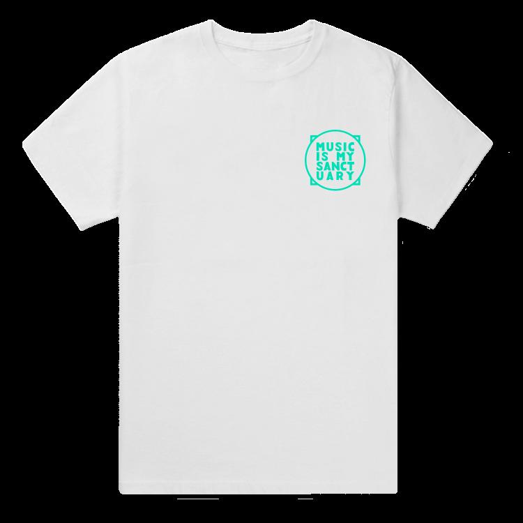 Small Aqua logo - White