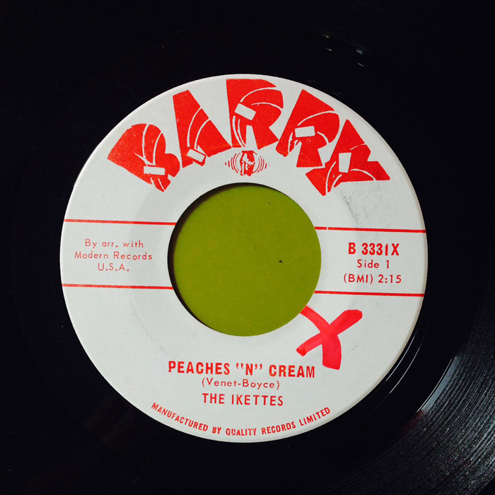 "The Ikettes ""Peaches & Cream"""