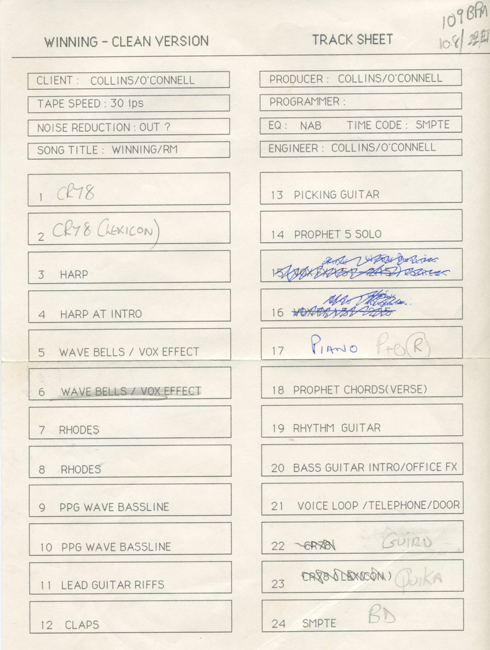 track-sheet